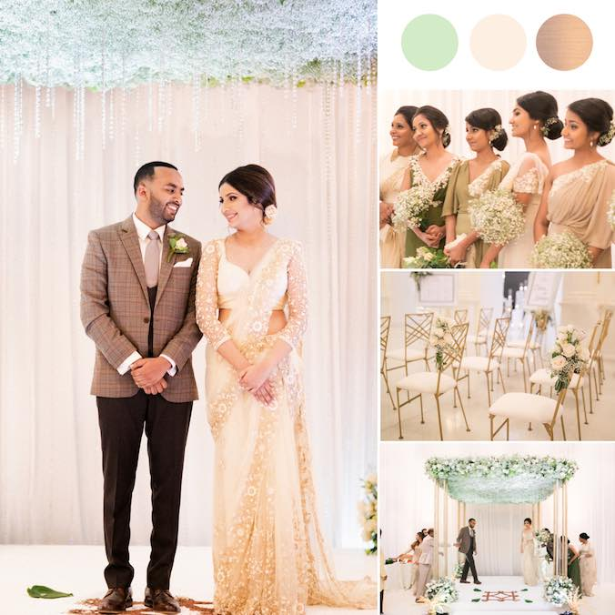 A Magical Grecian Themed Wedding With Shades of Olive Green at The Galle Face Hotel in Sri Lanka