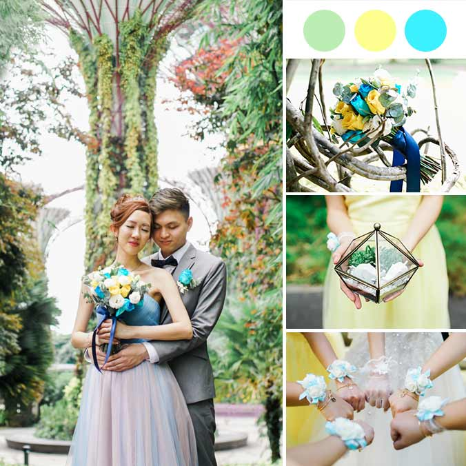 A Sweet Singapore Wedding with Natural Garden Greenery
