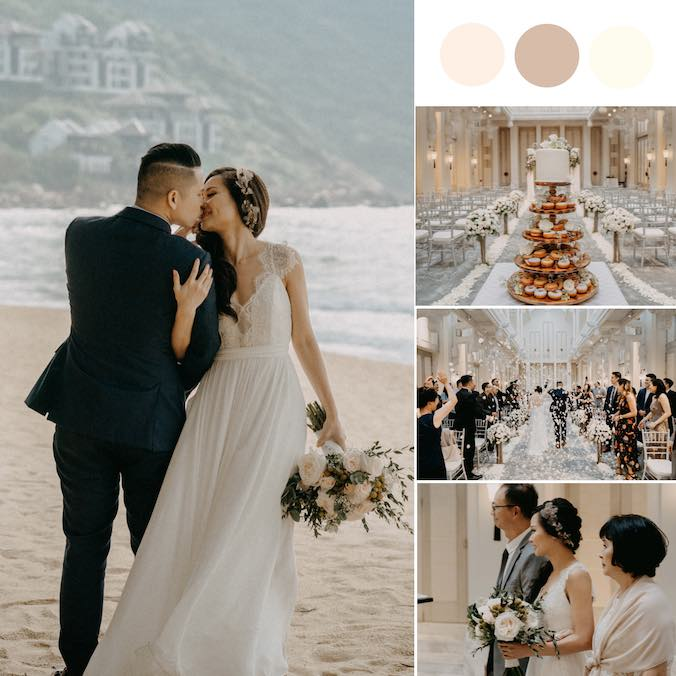 A Minimalist Vietnam Wedding With Lots of Neutrals [The Intercontinental DaNang Sun Peninsula Resort]