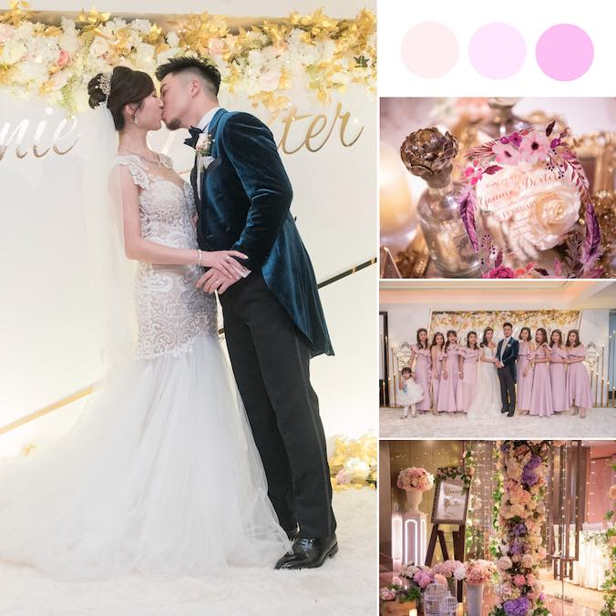 A Pink Chinese Ballroom Wedding With The Prettiest Candy Corner! [InterContinental Hong Kong]