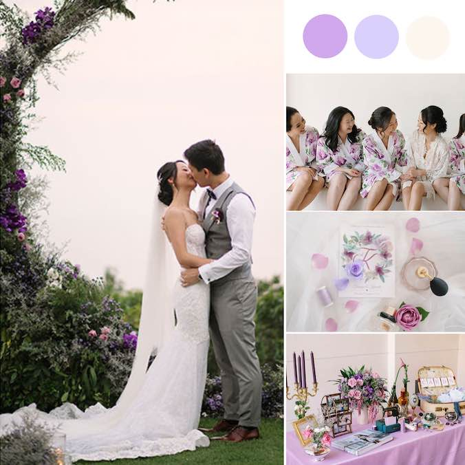 A Purple-Themed, Candle-Lit Aisle Lawn Wedding at Paresa Phuket