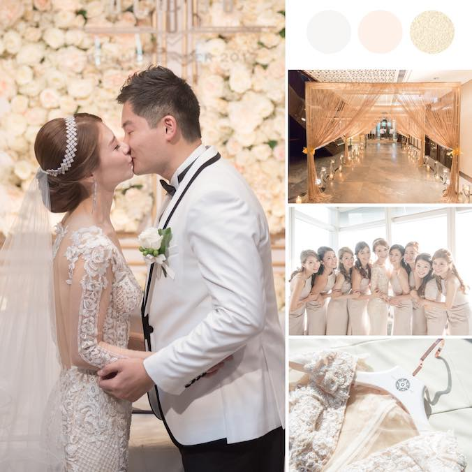 A Luxurious and Very Romantic Champagne Gold Wedding at Ritz Carlton Hong Kong