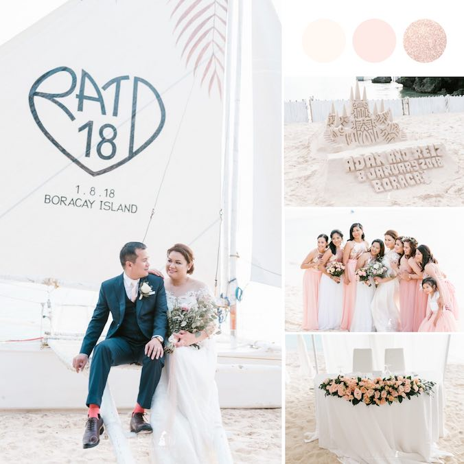 A Boracay Sunset Wedding With the Prettiest Reception Dinner Setup Decked in Fairy Lights