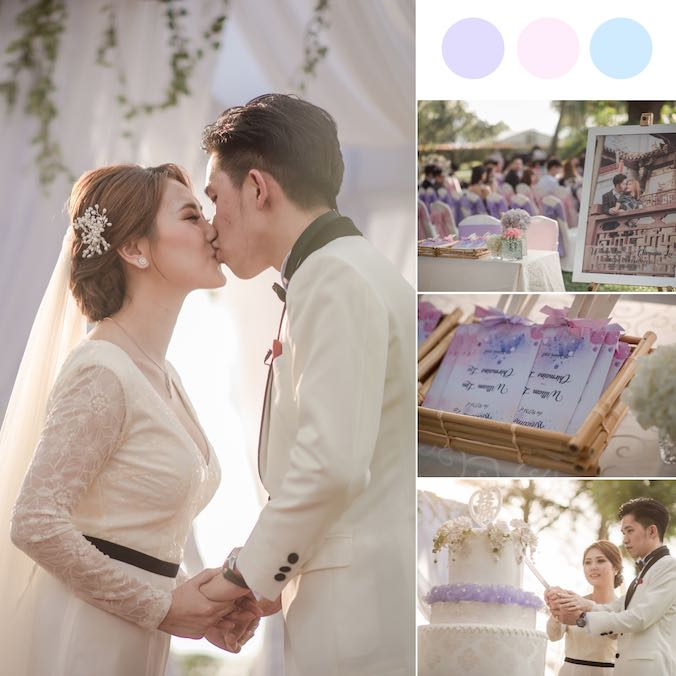A Sunny Penang Wedding With a Super Pretty Tent Reception at Shangri-la Rasa Sayang