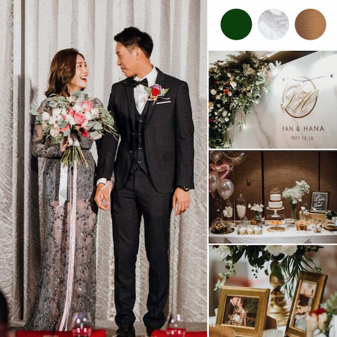 A Dreamy Marble Themed Taipei Wedding With Touches of Greenery, White, & Gold