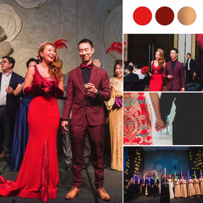 An Oscars Themed Wedding with The Coolest Star Wars March-In at W Singapore Sentosa Cove