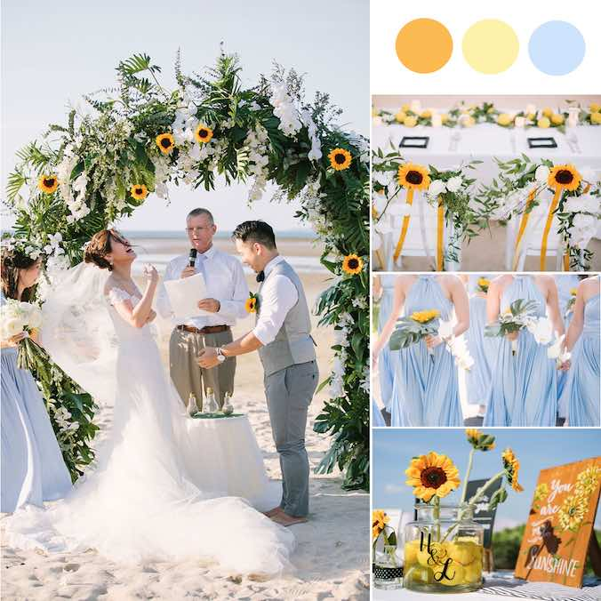 A Sunflower Inspired, Barefoot Beach Wedding [Phuket Marriott Resort and Spa]