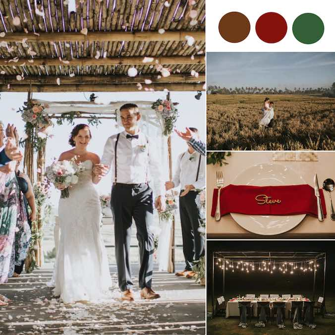 A Small, Vintage Bali Wedding With Lots of Greenery and Rustic Elements [Villa Mandalay Bali]