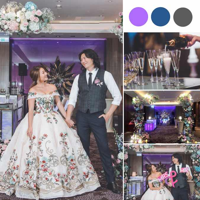 An Ultra Violet W Taipei Wedding With an All-Black Dress Code
