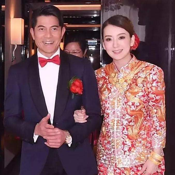 Hong Kong Singer, Aaron Kwok and Chinese Model, Moka Fang at the Peninsula Hotel Hong Kong