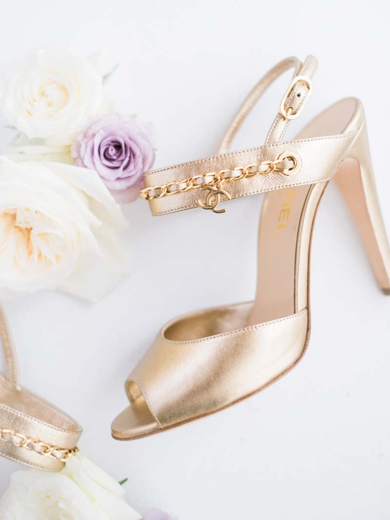 Our Bride asked us if there was any other wedding shoe besides Jimmy Choo, Louboutins, Roger Vivier, and the usual ones everyone seems to wear. We told her to check out these from Chanel and she loved them. #weddingshoewin