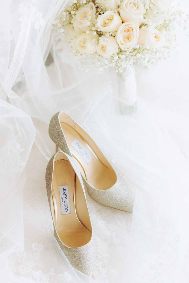 All you need is your bouquet and your 'Choos. #jimmychooweddingshoes