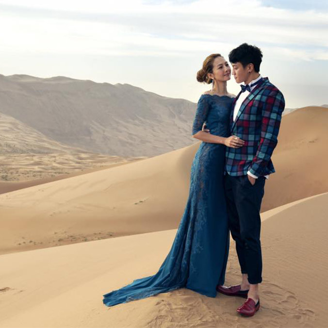 Celebrity Prewedding Photography Inspiration: Gobi Desert, Inner Mongolia