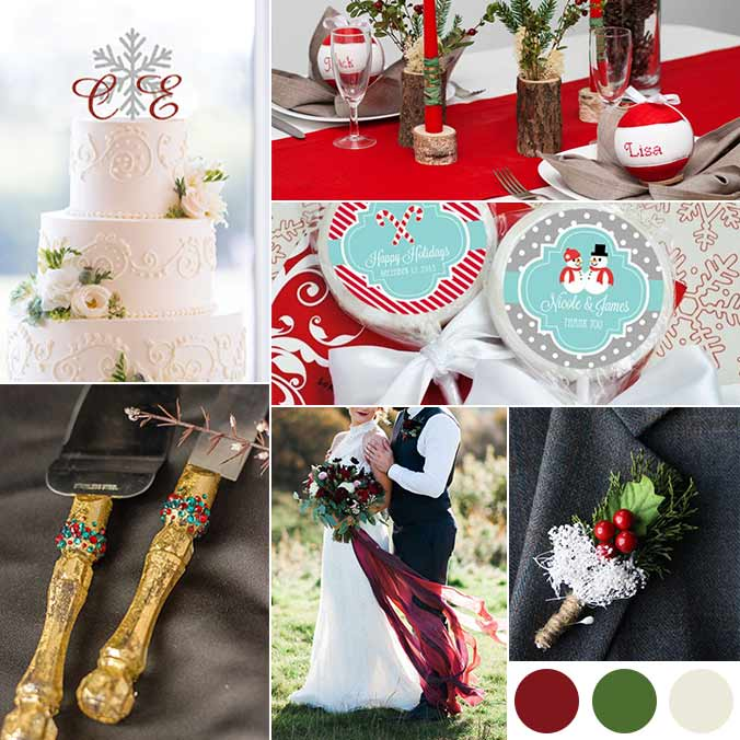 Holiday Weddings: 5 Color Palettes We're Obsessing Over!