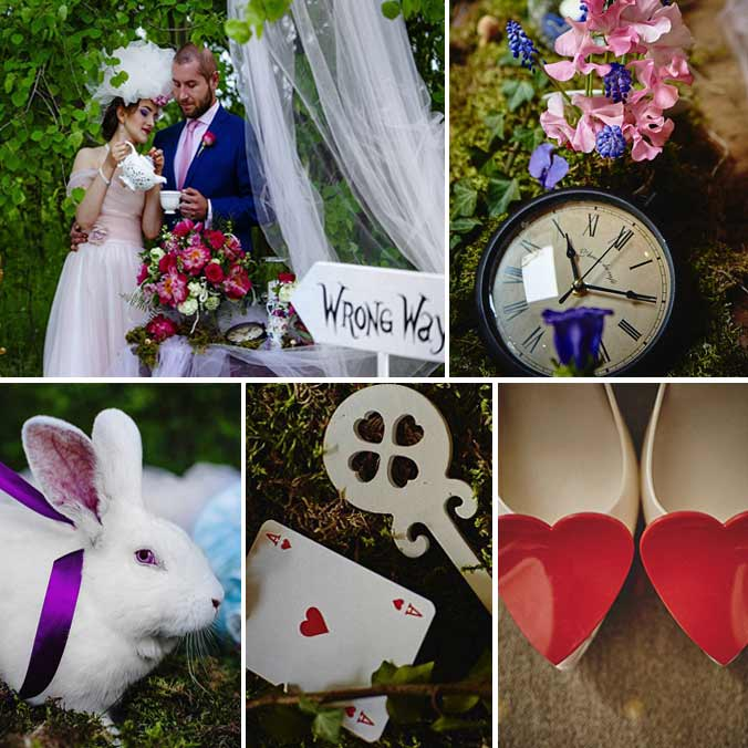 This Couple Took the Alice in Wonderland Wedding Theme to the Next Level