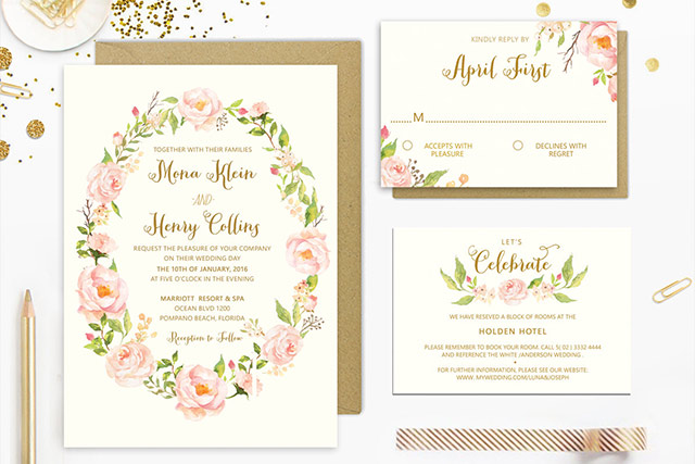 15 Pretty Floral Wedding Invitation Sets That Make You