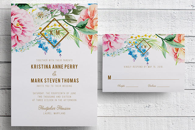 15 Pretty Floral Wedding Invitation Sets that Make You Want to – Floral Wedding Invitations
