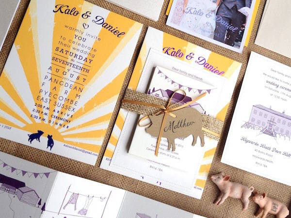 kalo make art wedding invites