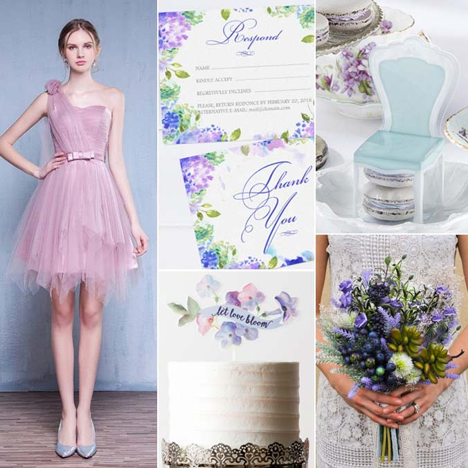 Lilac & Blue Color Palette: 8 Ideas for a Whimsical, Serene Wedding