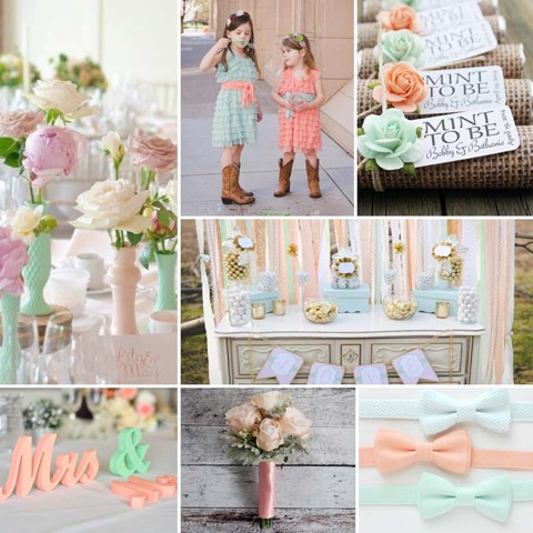 Peach Mint Wedding Colors 10 Ideas To Make Your Wedding Decor