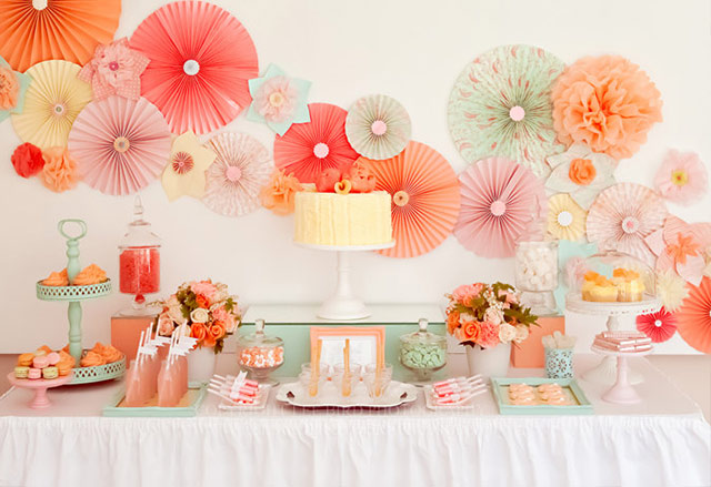 Peach And Mint Wedding Color 8