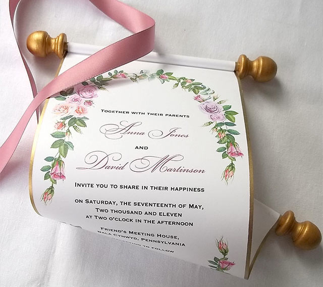13 alternatives to traditional wedding invitations scroll invitations - Weddings Invitations