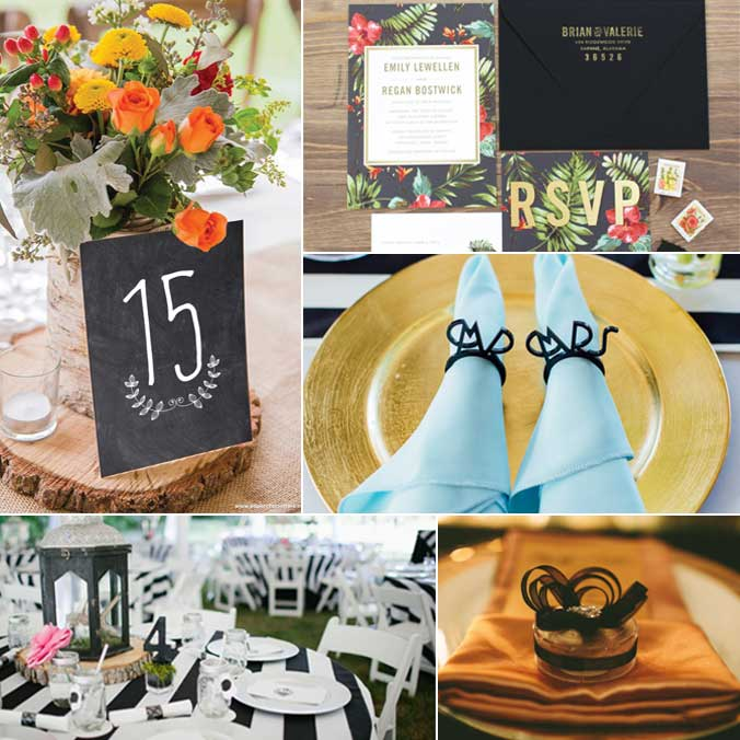 9 Sleek & Chic Ways to Incorporate Black Colors into any Wedding