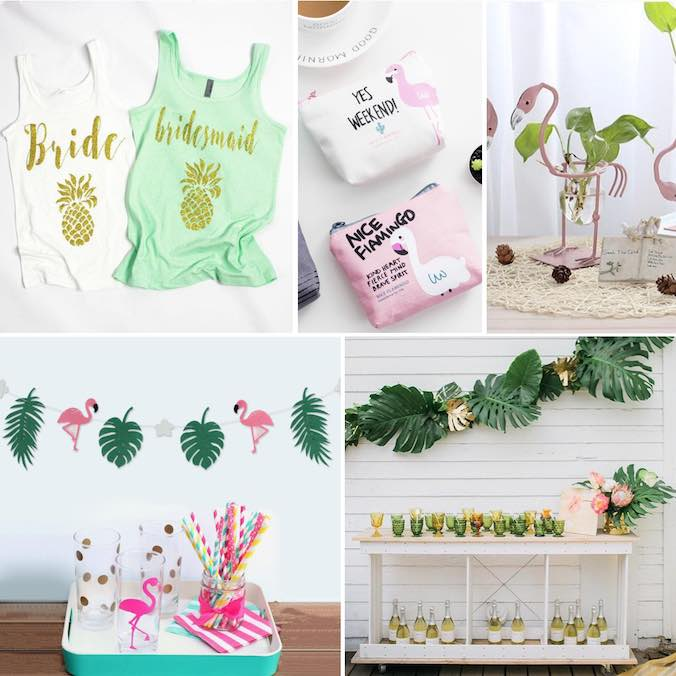 How to Create a Tropical Themed Bridal Shower: 11 (Shoppable) Decor Must Have's