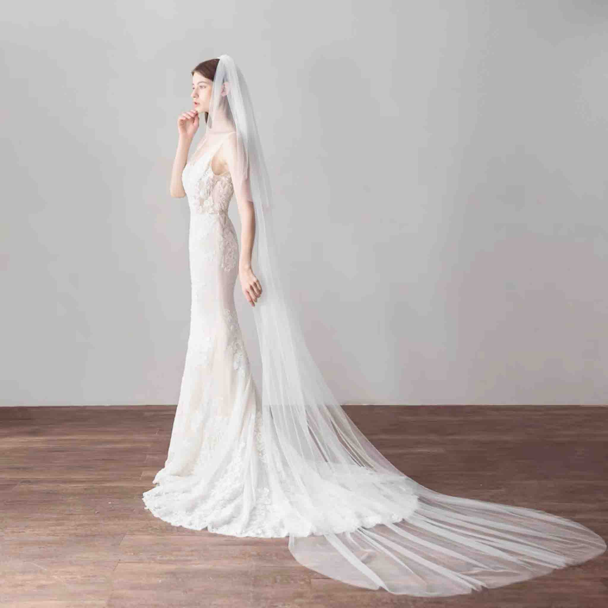 Cathedral Length Wedding Bridal Veil