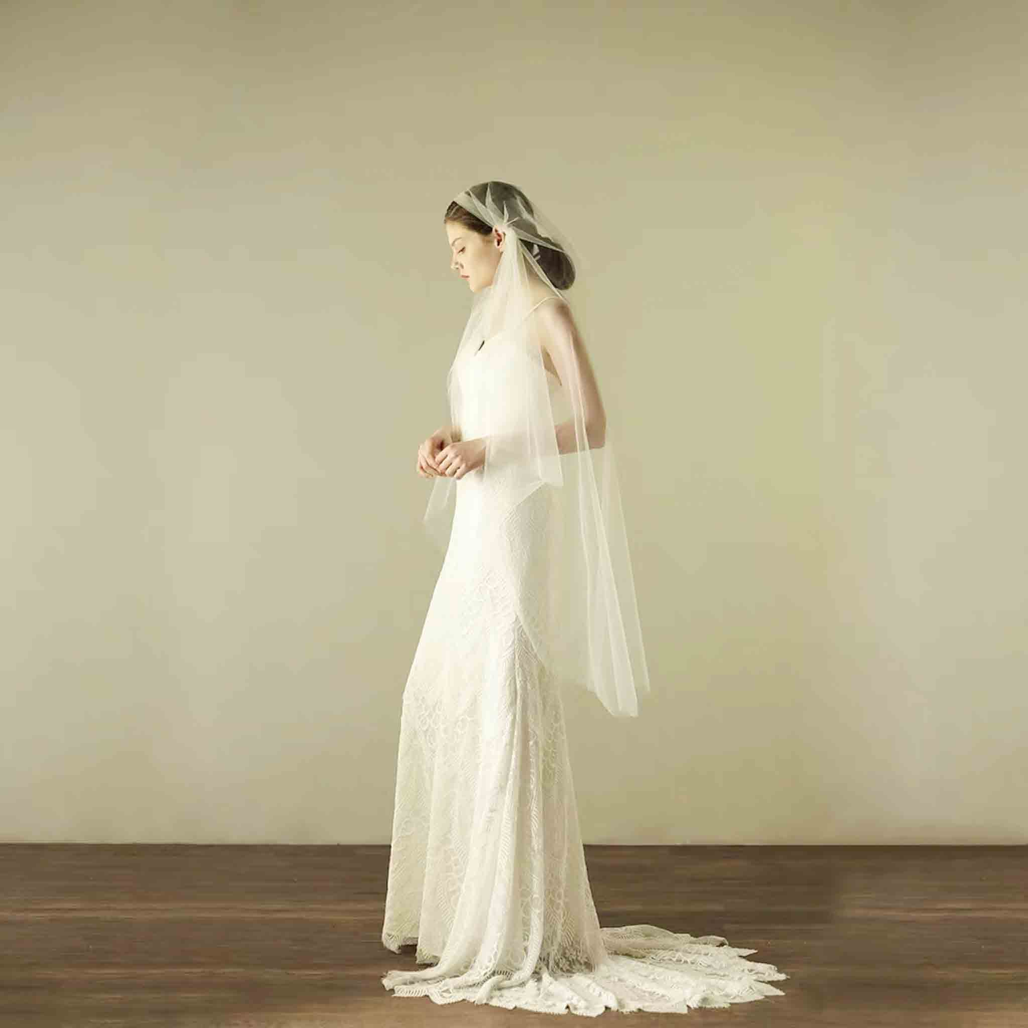 Simple Juliet Cap Wedding Bridal Veil