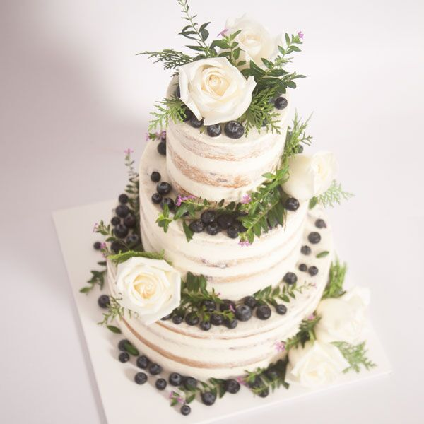 3 or 4-tiered Naked Cake for 100 guests