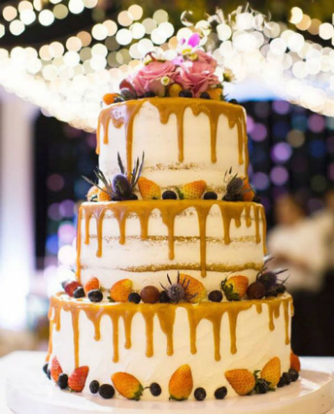 3 or 4-tiered Naked Cake for 120 guests