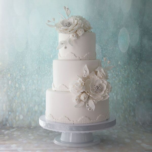 3-tiered Fondant-Covered Cake for 50-55 guests