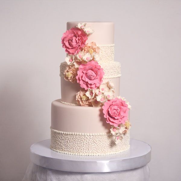 3-tiered Fondant-Covered Cake for 60 guests