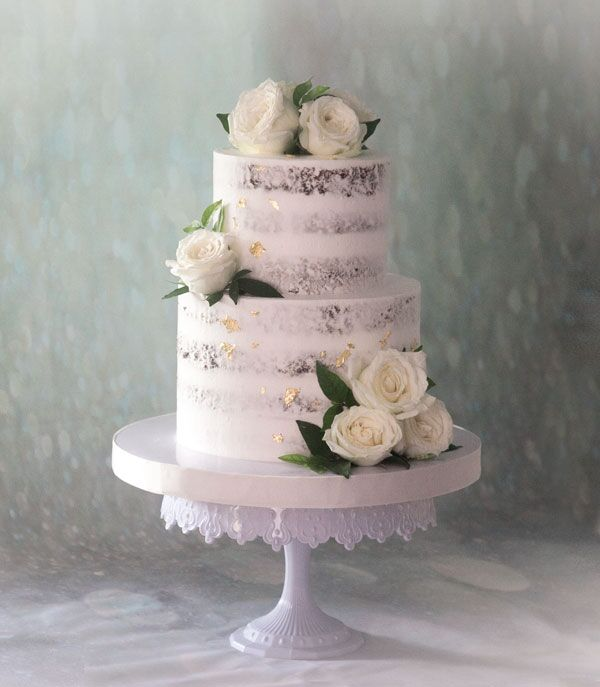 2 or 3-tiered Naked Cake for 40-45 guests
