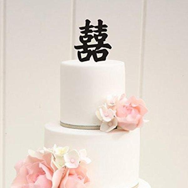 2 Layer Faux Buttercream Wedding Cake<br />