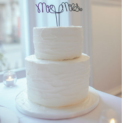 2 Layer Buttercream Real Wedding Cake 6