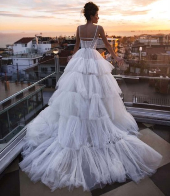 VIP Paris Wedding Dress Rental - 1 VIP Brand Name Wedding Dress & 2 Evening Dresses
