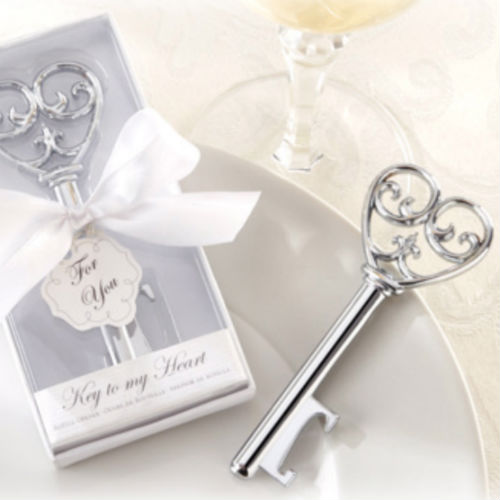 50 PCS Heart Key Bottle Opener Wedding Fa