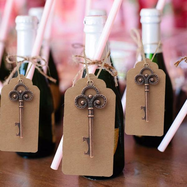 (Min Order 50 Sets) Keys/Bottle Opener + Gift Tags
