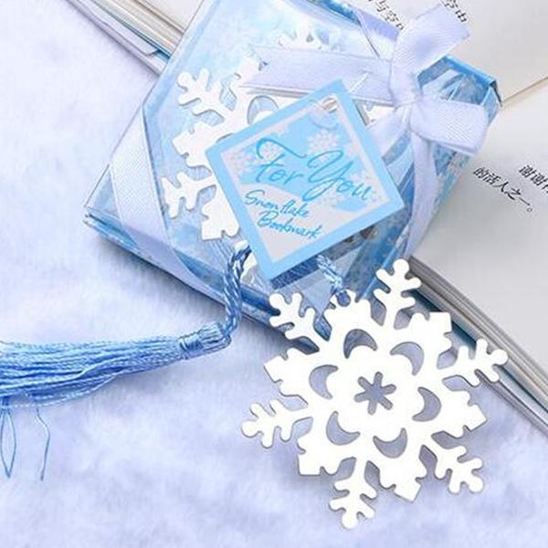 (50 Bookmarks) Winter Wonderland Snowflake Bookmarks