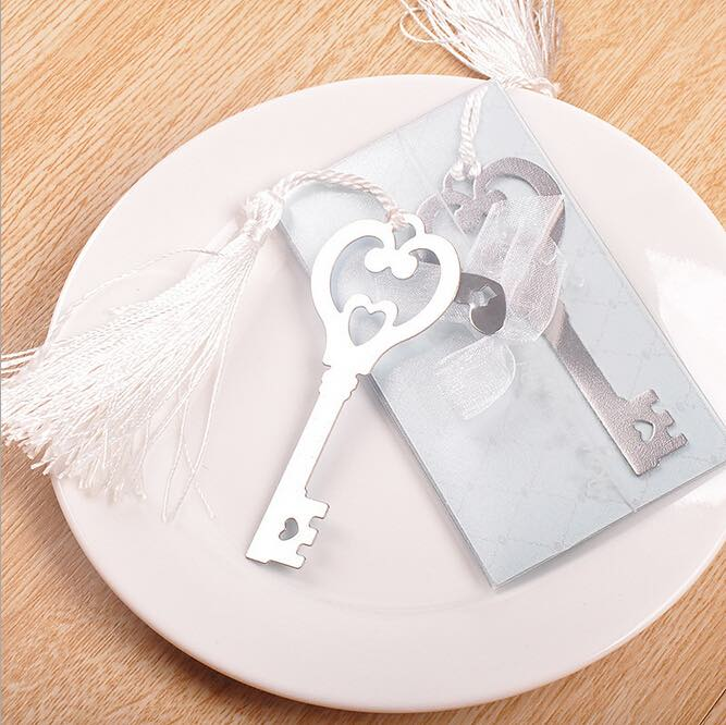 (50) [Key to Your Heart] Bookmark Wedding Gifts & Favors