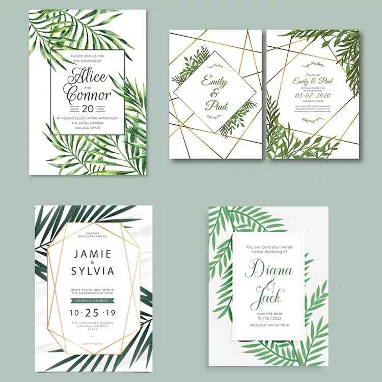 Geometric Design Complete Stationery and Invitation Suite Set Including Personal Customization