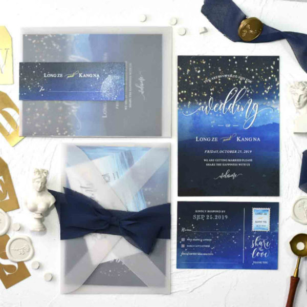 Sheer Vellum Invites