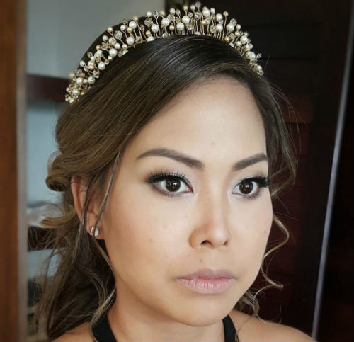 Wedding Day Makeup & Hair For Bride - Half Day (6 Hours) Including all Touch-Ups & Hair Style Change -3