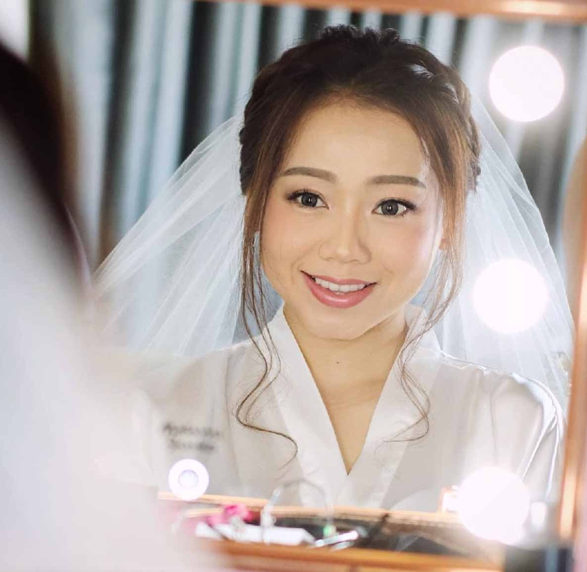 Natural Makeup & Hair for Bride On Wedding Day-5