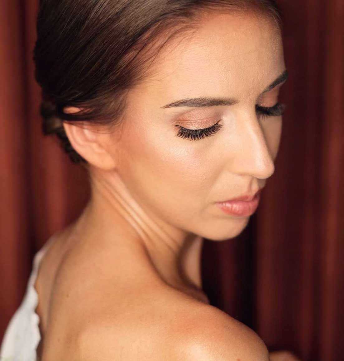 Natural Makeup & Hair for Bride On Wedding Day-3