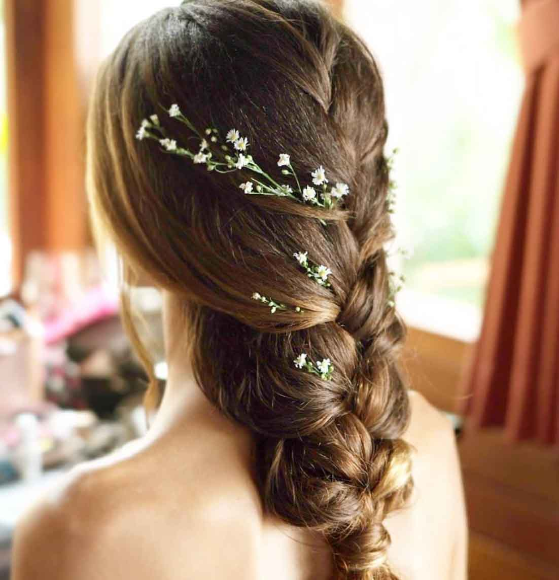 Natural Makeup & Hair for Bride On Wedding Day-10