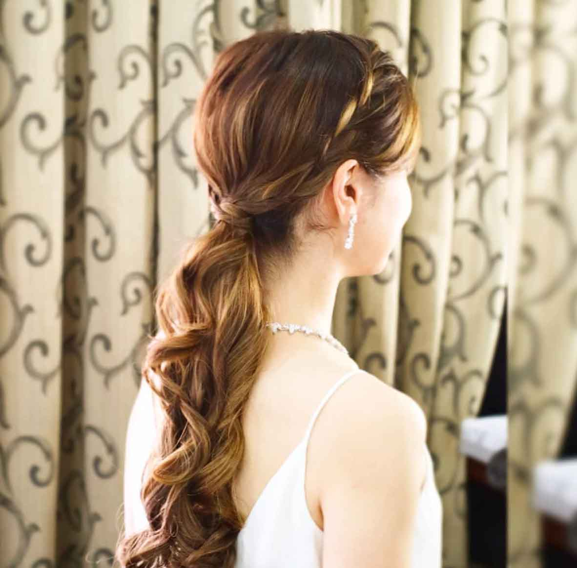 Natural Makeup & Hair for Bride On Wedding Day-9