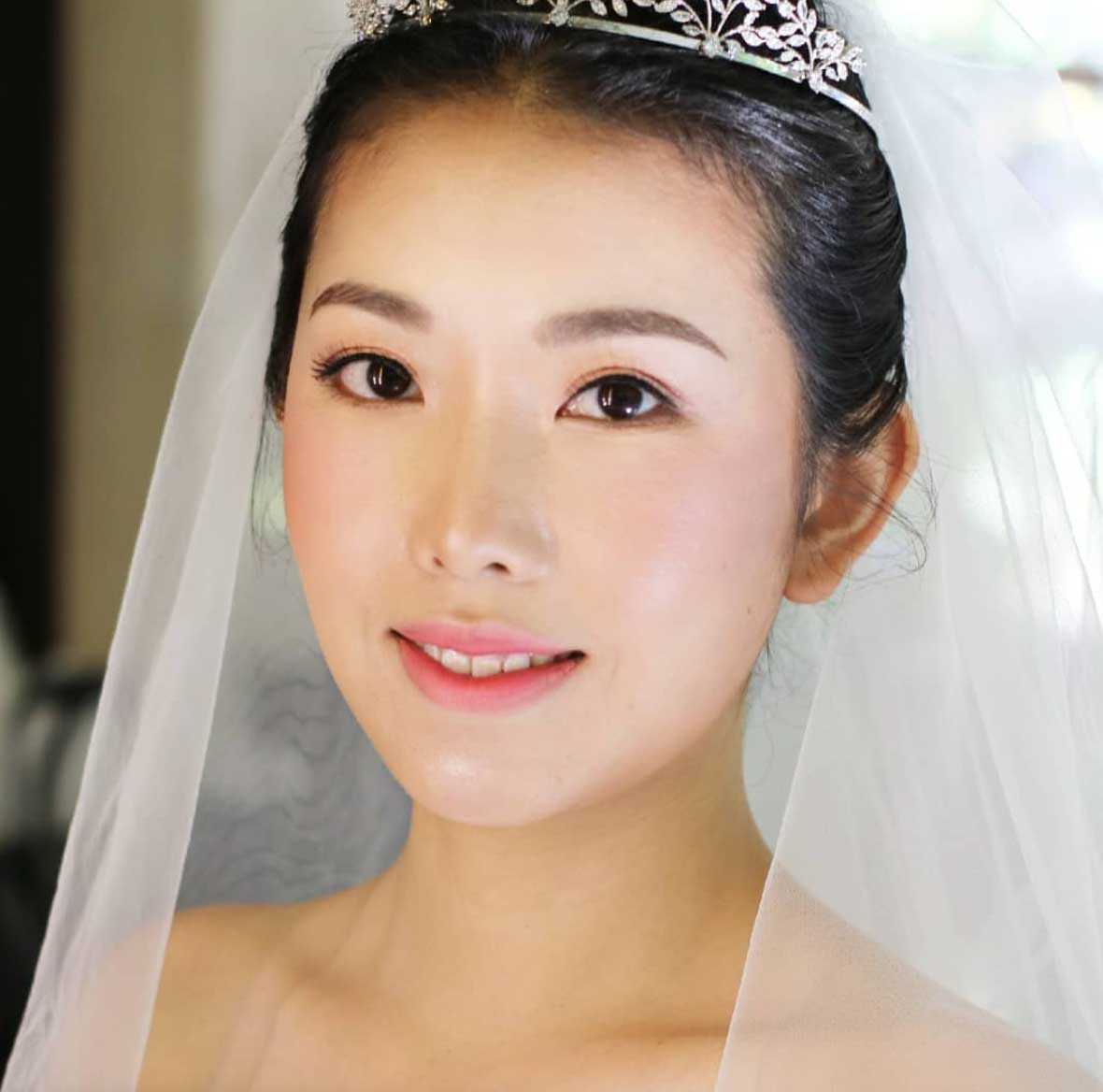 Natural Makeup & Hair for Bride On Wedding Day-11